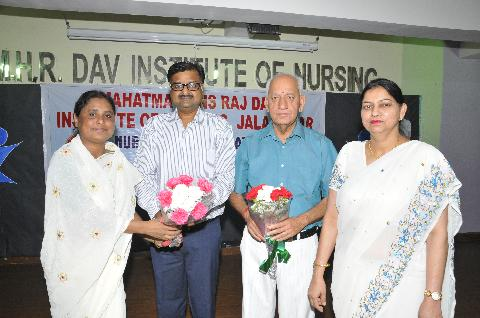 Our Honorable guests Shri Sanjay Gupta Ji and Shri M.L Aeri Ji welcomed by our Respected Principal Madam Mrs. Veena Williams And our Respected Vice Principal Madam Dr.(Mrs.) Harbans Kaur