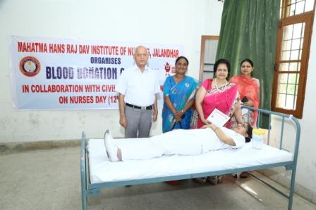 Organised Blood Donation Camp