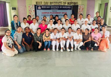 Placement Drive - Near about 40 students of MHRDAV  Institute of Nursing got selected in placement drive conducted by Artemis Hospital, Gurgaon